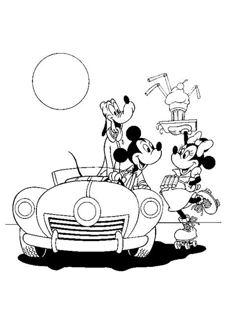 mickey mouse car coloring page 78 best images about mickey minnie on pinterest disney