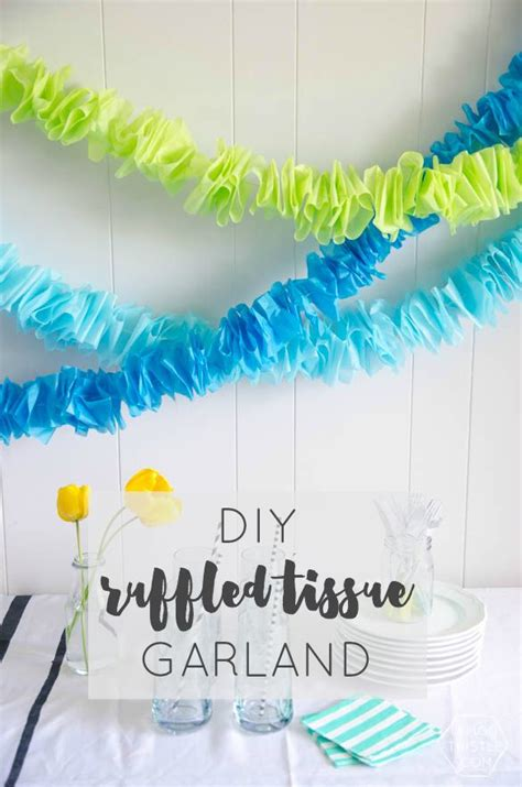 How To Make Crepe Paper Garland - best 25 crepe paper garland ideas on crepe