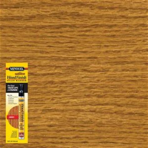 minwax stain colors home depot minwax 1 3 oz cherry wood finish stain marker 63486 the