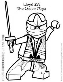 Green Ninja Lloyd ZX With Sword Coloring Page H &amp M sketch template