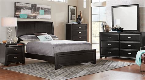 sleigh bedroom sets king belcourt black 5 pc king sleigh bedroom king bedroom
