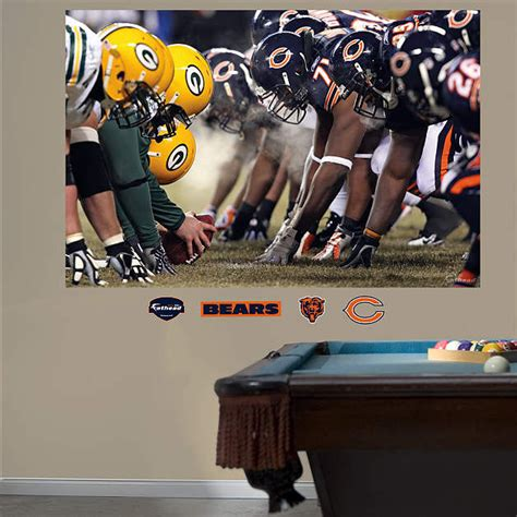 chicago bears wall stickers fathead chicago bears packers line of scrimmage