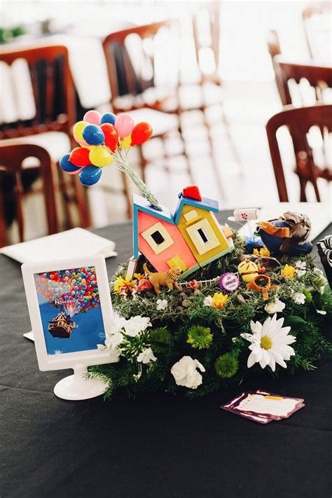 these two made amazing disney themed centerpieces out of their childhood toys centerpieces