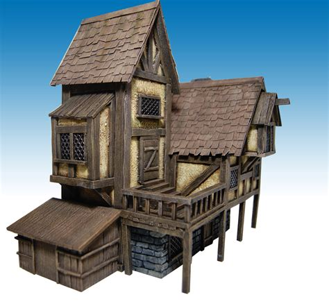medieval house miniature warfare medieval house nr 2 finished