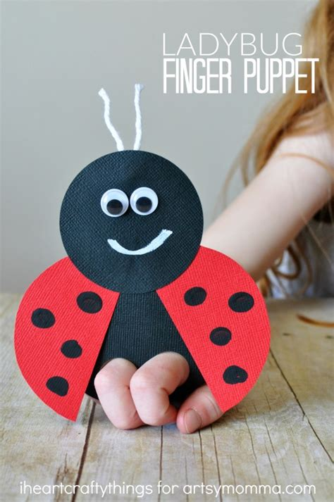How To Make A Ladybug Out Of Paper - mega adorable ladybug finger puppet artsy momma