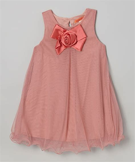 swing bow dusty pink bow swing dress toddler