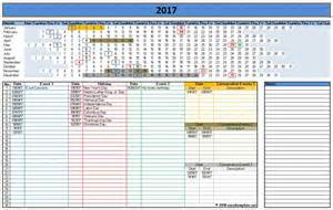 Calendar Of Events Template Excel by 2017 Calendar Templates Microsoft And Open Office Templates