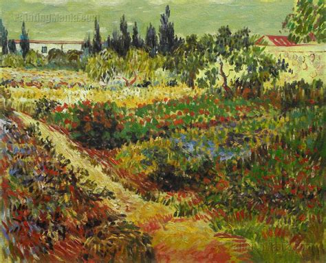 Flowering Garden With Path Vincent Van Gogh Oil Painting Gogh Flowering Garden