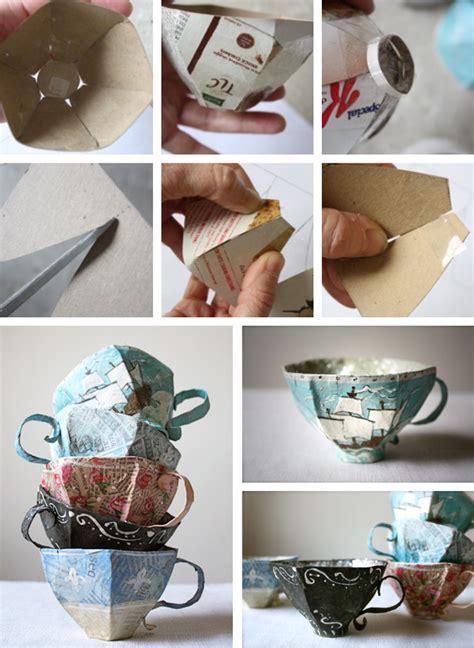 paper mache ideas for home decor paper mache teacup