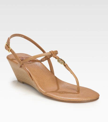 burch emmy sandals burch emmy leather wedge sandals in brown royal