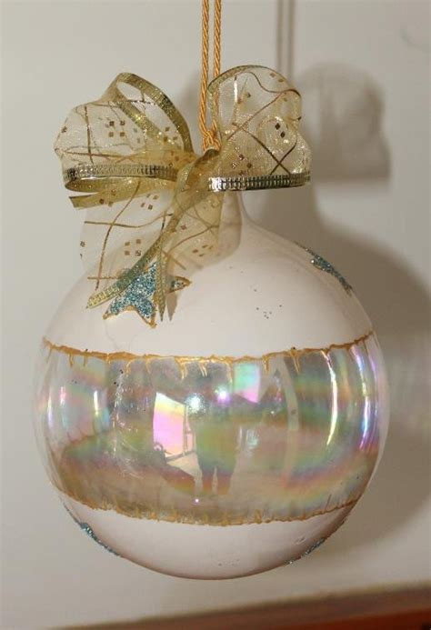 customisable hand decorated glass christmas bauble with