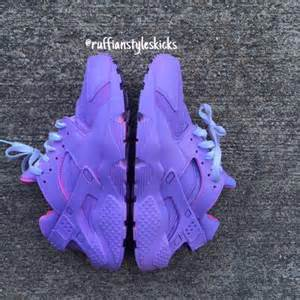 when did the color purple come out all purple w pink highlights huarache shoes