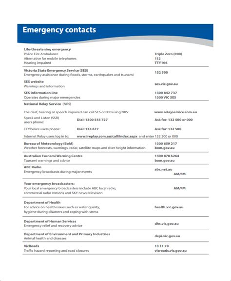 sle emergency plan 10 free documents in word pdf