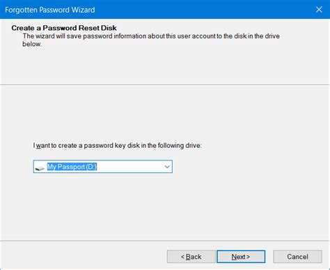 windows reset password disk usb how to create password reset disk on usb drive in windows 10