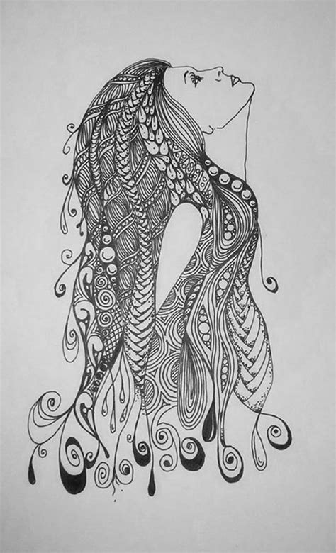 zentangle mermaid www imgkid com the image kid has it