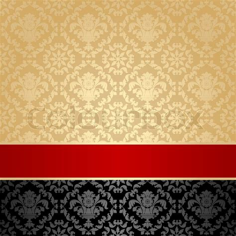 Old Victorian House Plans seamless pattern floral decorative background red ribbon