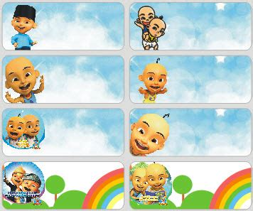 name tag design cartoon character 72pcs custom sticky name label school name sticker