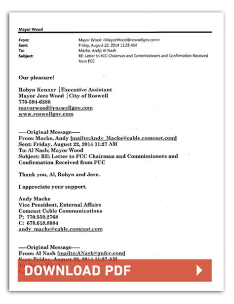 Letterhead Of A Chamber Exclusive Politicians Are Supporting Comcast S Twc Merger