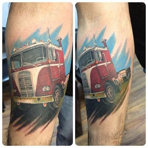 semi truck tattoo designs 24 best for ben images on truck