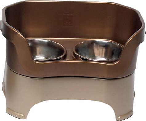 elevated dishes neater feeder elevated bowls bronze large chewy
