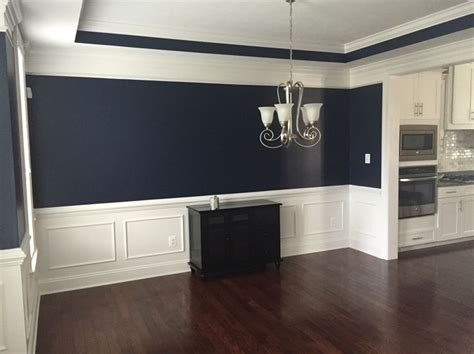 absolutely this navy blue color in our dining room sherwin williams naval navy blue
