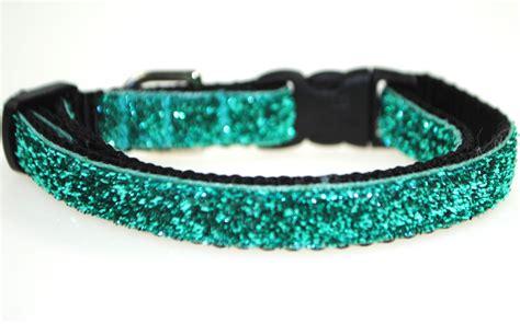 teal collar metallic teal glitter 3 8 adjustable collar