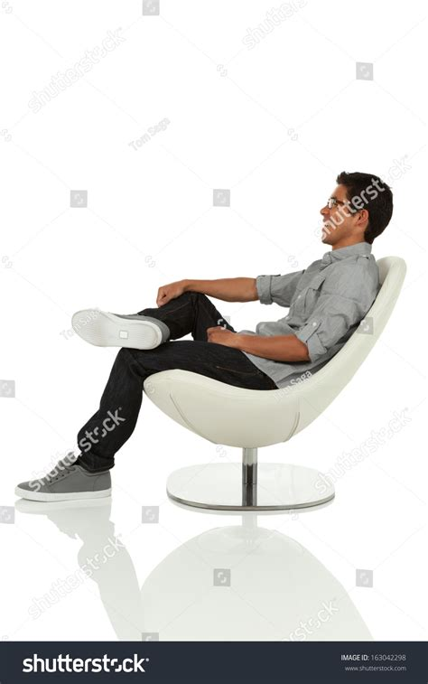 Leaning Back In Chair Posture by Sitting Leaning Back On Stock Photo 163042298