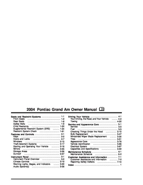 car service manuals pdf 2004 pontiac grand am seat position control 2004 pontiac grand prix maintenance manual filetype pdf 2004 pontiac grand prix service manual