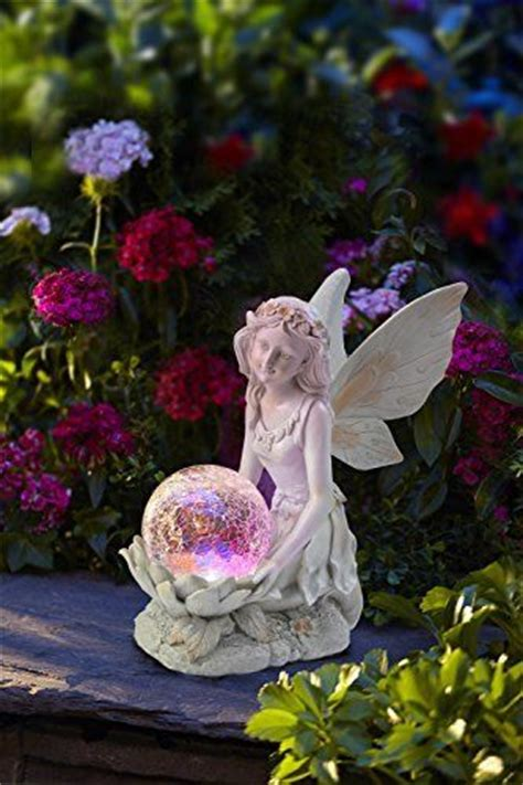 Statue For Garden Decor Figurine Statue Garden Decor Outdoor Solar Light Color Changing Wing Ebay