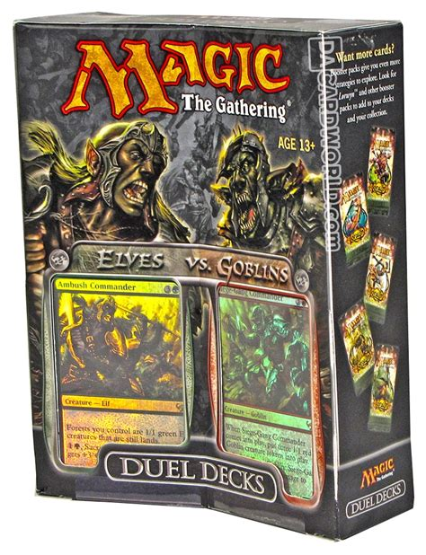 mtg duel decks magic the gathering elves vs goblins duel deck da card
