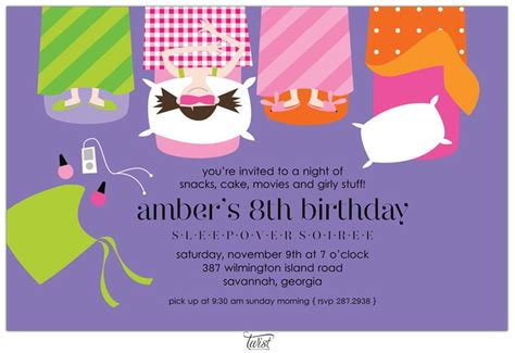 sleepover invitation template 17 best images about pijama on sleepover