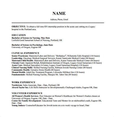Resume Templates Registered Free by Registered Resume 9 Free Documents In