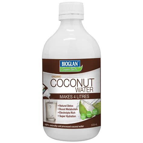 Detox Coconut Water by Bioglan Superfoods Organic Coconut Water Concentrate 500ml