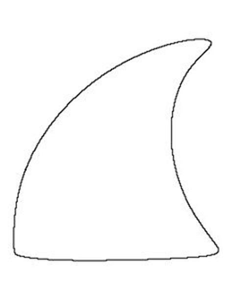 shark fin template sun pattern use the printable outline for crafts