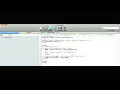 tutorial php basic basic html php contact form tutorial youtube