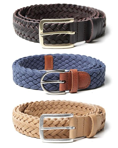 Woven Belt a p c woven belt collection indigo brown