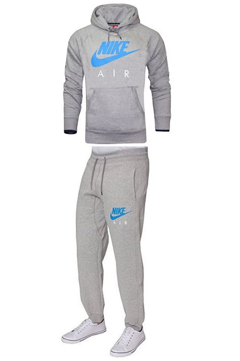 nike air mens 3d limitless kangaroo pockets zip up hoodie jogger tracksuit set ebay