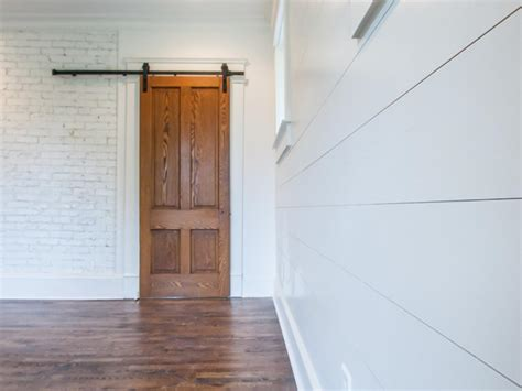 How To Install A Barn Door Shiplap Door
