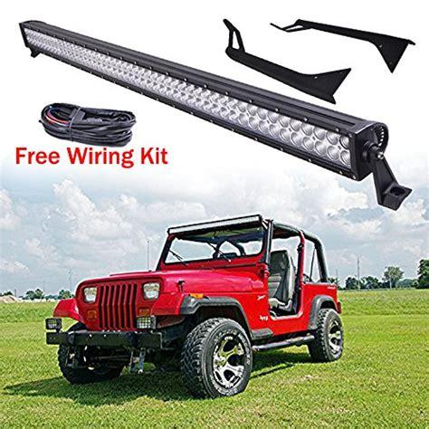 led bar jeep wrangler led light bar and mounting brackets jeep wrangler yj