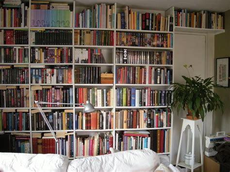 wall bookshelve custom made bookshelf wall ikea hackers ikea hackers