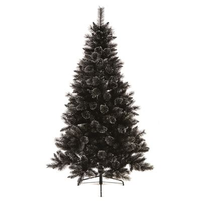 christmas trees black glitter artificial christmas tree 1 8m