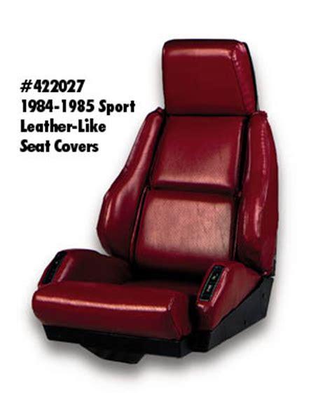 1984 corvette seats 1984 1988 corvette sport seat leather like non perforated