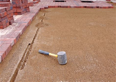 How To Lay Patio Bricks In Sand by How To Install A Laid Paver Patio Buildipedia
