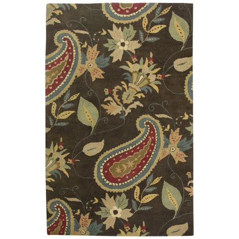 Brown Paisley Rug by Rizzy Home Dt0919 Destiny Brown Paisley Rug Discount