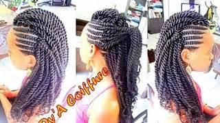 How To Mohawk Style With Ghana Cornrows Amp Havana Twist
