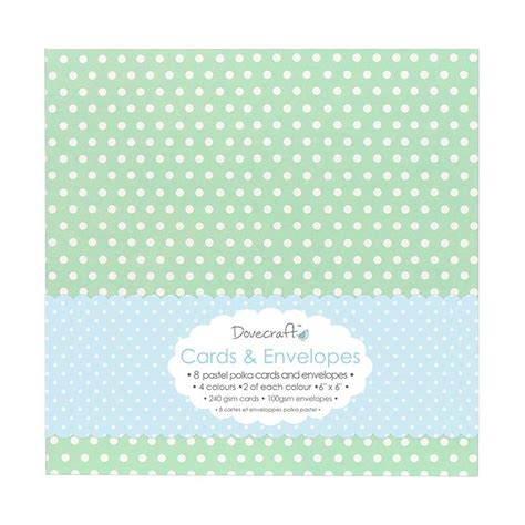 6x6 card envelope template dovecraft 8 pastel polka 6x6 cards envelopes dcce008