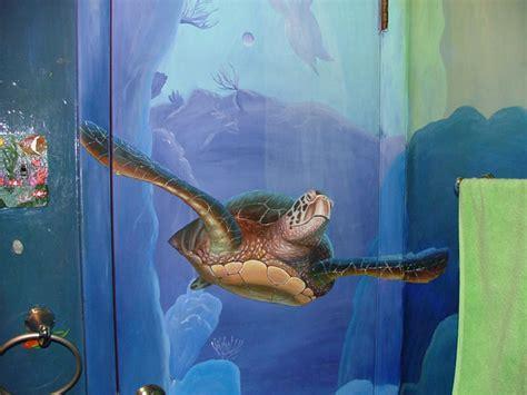 Dolphin Bathroom by Dolphin S Bathroom Mural