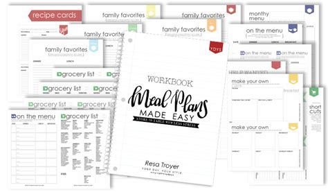 free printable meal planning guide free meal planning guide and printable worksheets