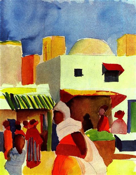 august painting and drawing motionista market in algiers 1914 august macke wikiart org