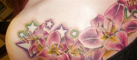 lily and stars tattoo designs 64 stargazer tattoos ideas
